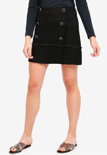 ESPRIT black Light Woven Midi Skirt 3E913AA68FF1EDGS_1