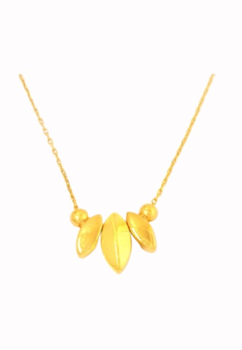 TOMEI gold Leaf Me Not Necklace - Tomei Yellow Gold 999 (24K) (BTN-5D-SET3) DF186AC0F06267GS_1