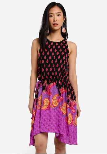 Free People black and multi Rendezvous Girl Slip Dress FR659AA0RWMZMY_1