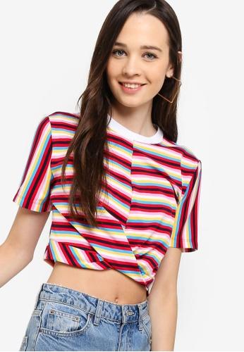Something Borrowed 多色 品牌刺繡T恤 ED041AAB159F9EGS_1