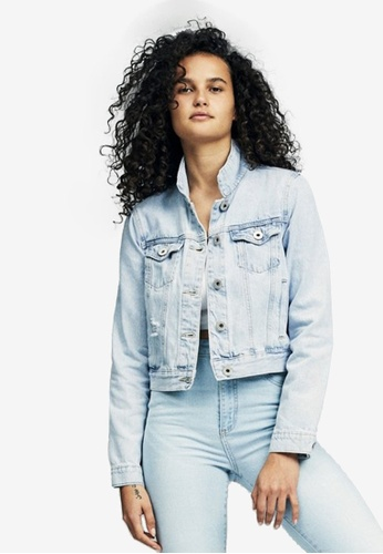 Cotton On blue Girlfriend Denim Jacket C911EAA18F3AACGS_1