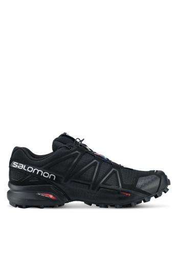 Salomon black Speedcross 4 Wide Shoes 8DDE3SHF7334A7GS_1