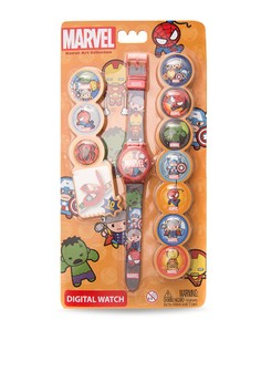 Avengers Kawaii Art Collection Mix and Match Boys Plastic Strap Watch KAWAII RJ15-16