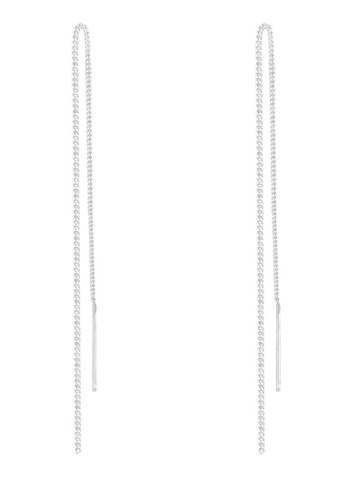 懸掛式鏈條 925 純銀耳環, 飾esprit旗艦店品配件, 其他