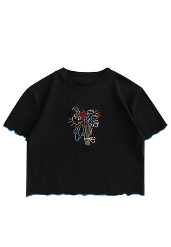 Twenty Eight Shoes Slim Embroidered Short Sleeve T-shirt HH0045 76BF0AABEDC9B8GS_1