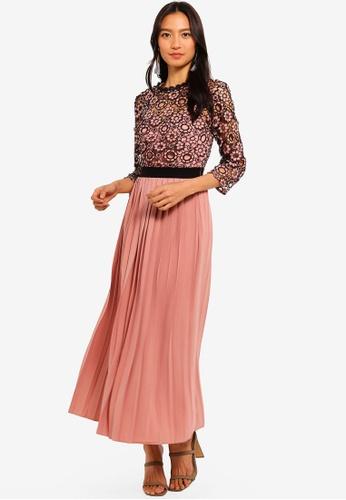Little Mistress orange Crochet Top Midaxi Dress 57636AA05B6D86GS_1