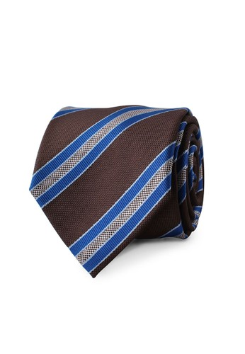 Gianni Paolo blue and brown Brown and Blue Tie GP 081 GI589AC12URFID_1