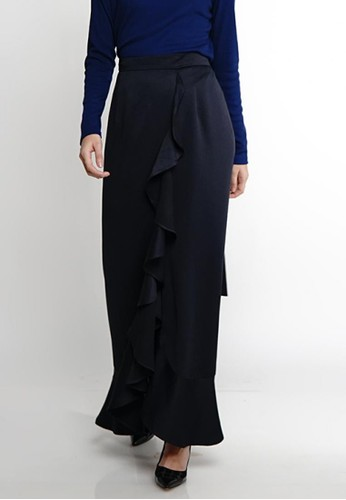 Jenahara black JENAHARA Wrap Skirt - Blue Black 2A6C0AAF7C0B61GS_1