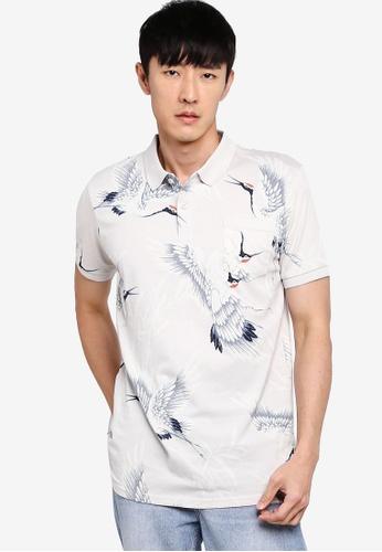 Cotton On 多色 Wood Block Polo 襯衫 4C2D9AA1CE45D5GS_1