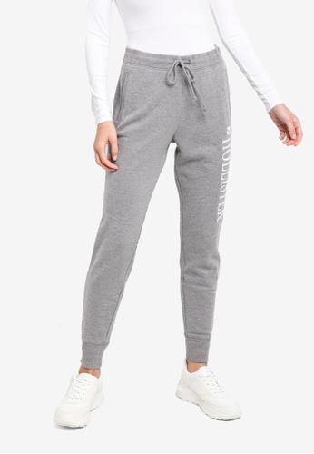 Hollister grey Logo Jogger Pants FE165AA221969AGS_1