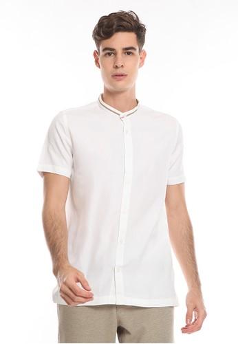 Manzone white ESHAN-WHITE Shirt 0B437AA093FDA7GS_1