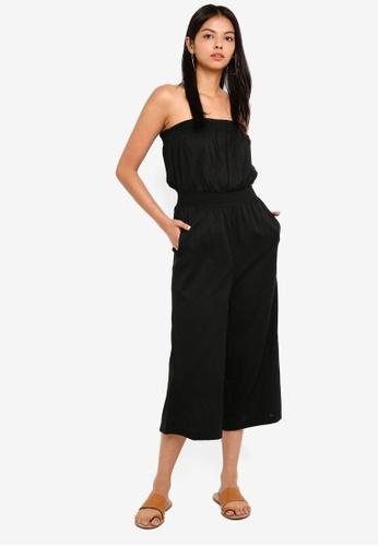 Cotton On black Woven Callie Bandeau Jumpsuit A4967AA30EF2B2GS_1