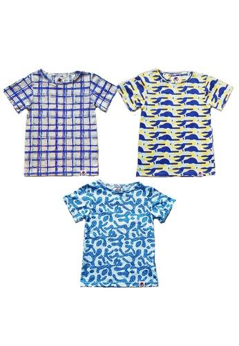 Roses & Rhinos multi Breeze T-Shirt Bundle x 3 D159AKA64E5302GS_1
