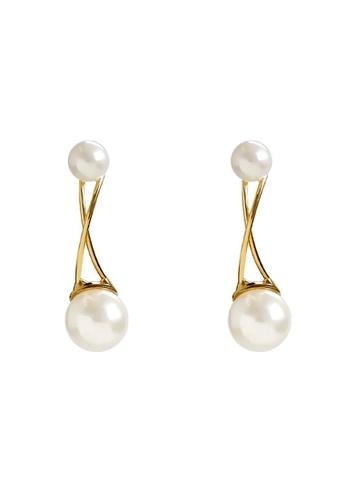 Glamorbit multi Pearl Statement Earrings 1473BAC17EA772GS_1