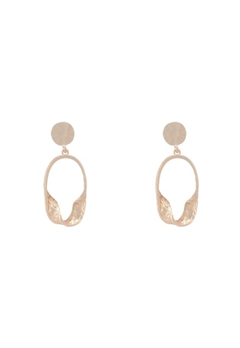 Saturation gold Cleft Earrings E24AFAC1D89375GS_1