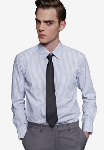 Life8 blue Solid Cutting Print & Stripped Men's Formal Shirt-11005-Blue Stripe LI283AA68EODSG_1