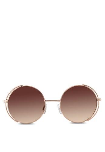 Etesprit outlet 家樂福ewen 圓框太陽眼鏡, 飾品配件, 飾品配件