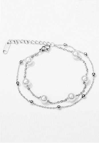 Trendyshop silver Pearl Bracelets 4AE4EAC274912AGS_1
