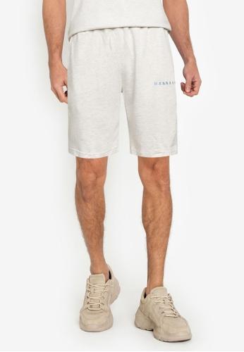 Mennace grey Essential Regular Shorts B70E3AA7DF99C1GS_1