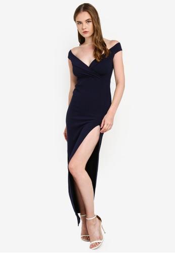 HTOOHTOOH Women Cold Shoulder Spaghetti Strap Maxi Party Dresses