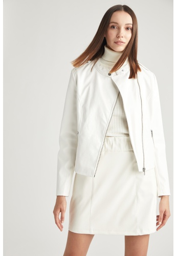 DeFacto white Woman Outer Wear Mont 29CE0AA7C601CAGS_1