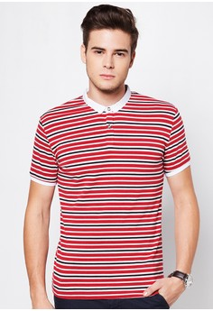 Striped Polo Tee