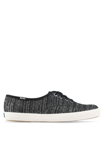 Keds black Champion Lurex Stripe Sneakers A423ESH8620252GS_1
