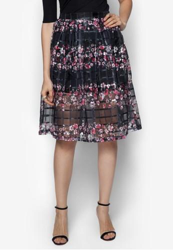 歐根紗花色短裙, 服飾, 裙zalora 男鞋 評價子