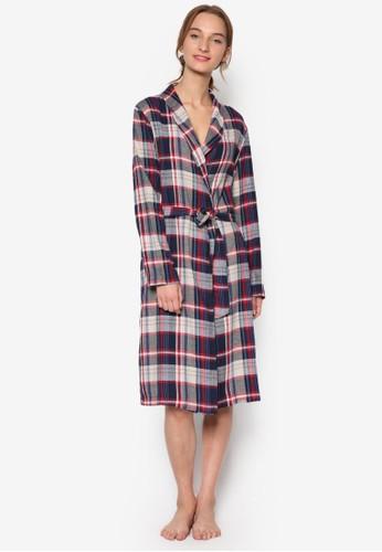 寬格紋長袍, 服飾esprit 品牌, 服飾