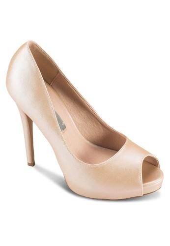 Besprit 澳門acci 露趾厚底高跟鞋, 女鞋, 鞋