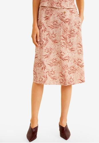 Mango pink Printed Midi Skirt A91D9AA463BA67GS_1
