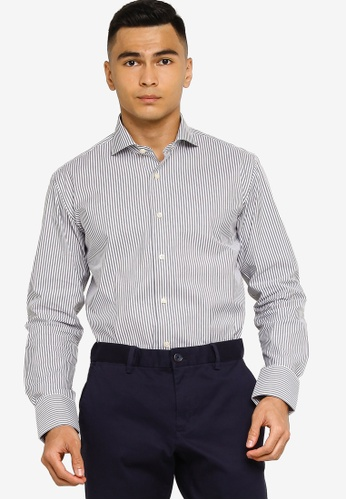 Sacoor Brothers grey Slim fit super comfort easy iron shirt 929F4AA8CA07A1GS_1