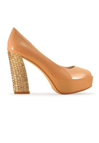 Gripz Prom Faux Leather Peep Toe Platform High Heels 9B975SHB62005EGS_1