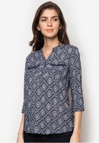 Freego blue Ladies Printed Shirt FR760AA72RZVPH_1