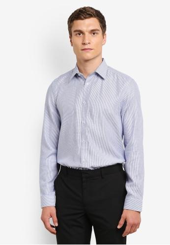 Burton Menswear London 藍色 Colbalt Formal 襯衫 BU964AA0RQODMY_1