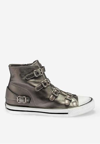 ASH silver Virgin - Silver Strap High-Top Sneakers 2AB54SH272B631GS_1
