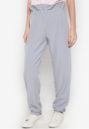NEW ESSENTIALS grey Ivar Aseron Paperbag Pants NE239AA0JD2RPH_1