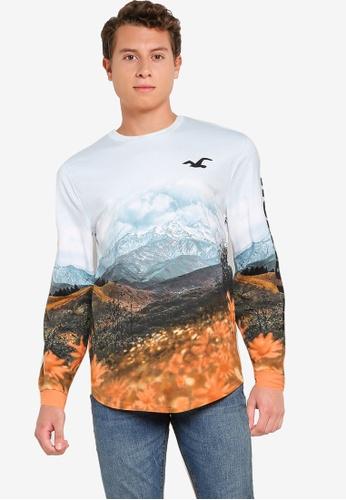Hollister blue Scenic T-Shirt 09A95AAD70F3F4GS_1