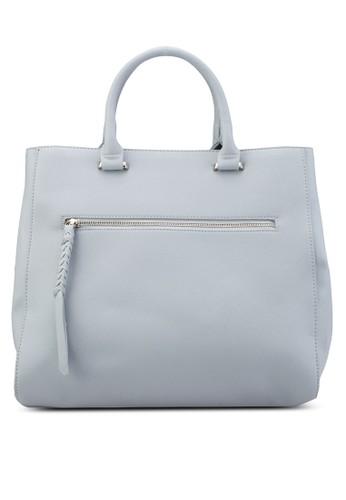 前拉鍊方形托特包、 韓系時尚、 梳妝ZALORA前拉鍊方形托特包最新折價