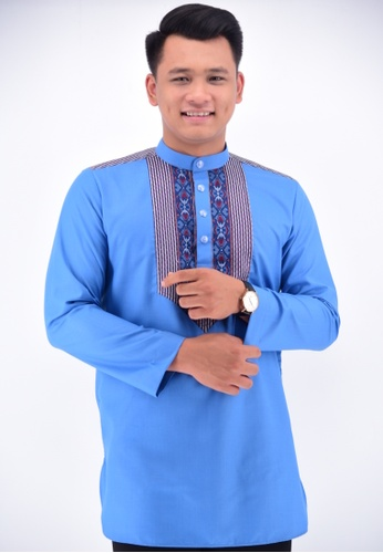 UA BOUTIQUE blue Kurta Batik KLC17-041 (Blue) A2FE6AA25B172CGS_1