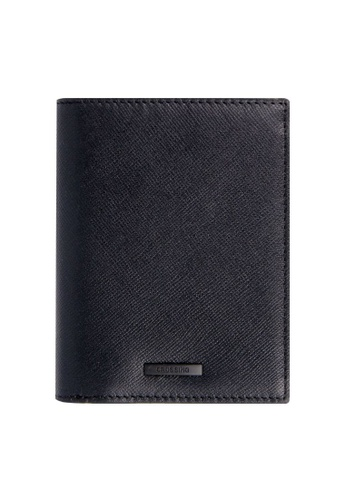 CROSSING black Crossing Black Series Short Leather Wallet Case With Coin Pouch RFID E623CAC5C80F4EGS_1