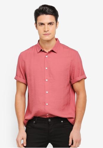 ZALORA pink Relaxed Fit Lightweight Short Sleeve Shirt 0C79DAA9F3FBFBGS_1