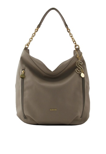 SEMBONIA grey SEMBONIA Synthetic Leather Hobo 957F5AC584D002GS_1