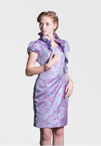 氣質貴婦京站 esprit荷葉領蝴蝶結設計短袖小外套, 服飾, 西裝外套