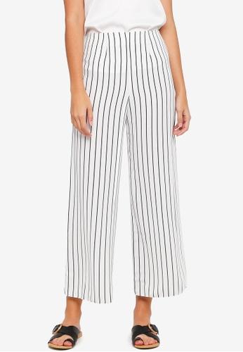 Miss Selfridge beige Petite Stripe Trousers 41735AA501D417GS_1