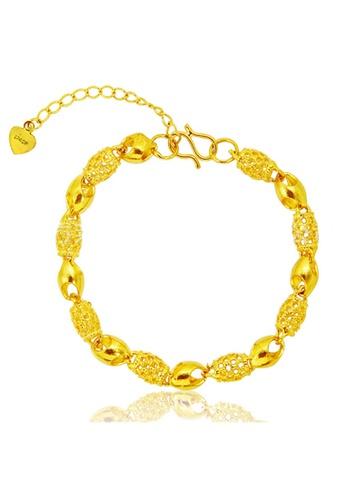 YOUNIQ gold YOUNIQ Premium Barrel 24K Plated Bracelet (Gold) YO999AC42SBDMY_1