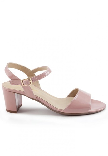 Shu Talk pink Patent Peep-Toe Ankle Strap High Heel Sandals SH397SH0FPJRSG_1