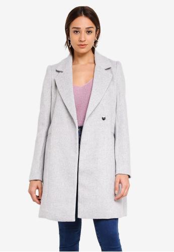 Forever New grey Elisa Duster Coat DF9B9AAF86F13CGS_1