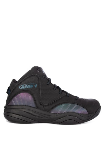 And1 black and multi Size 'M Up Basketball Shoes E612ASHDFE1CC4GS_1