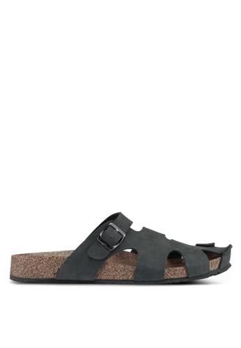 Bata black Bata Cutout Buckle Strap Sandals A98EDSH8431C55GS_1